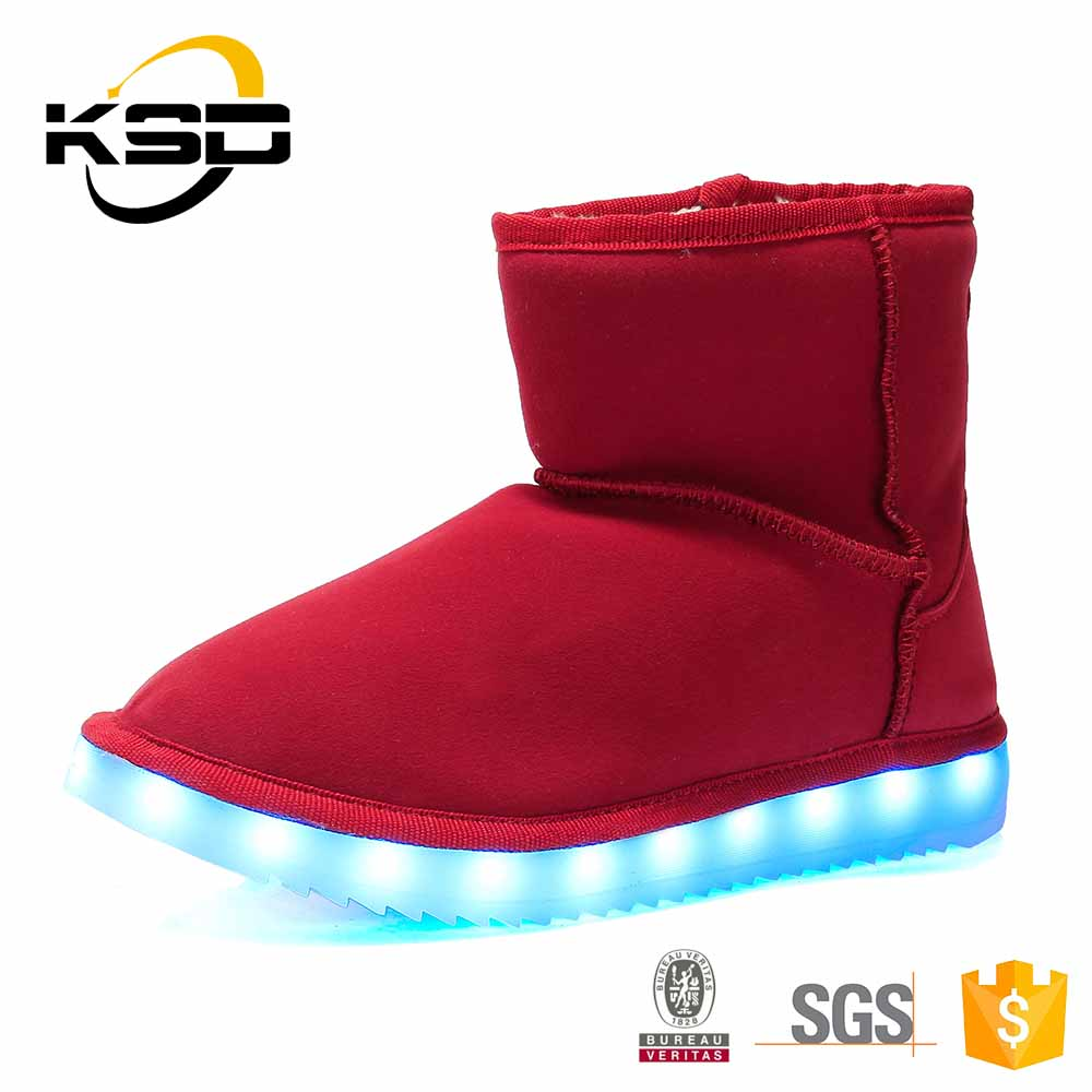 Dropshipping Light Up Snow Short Boots China Wholesale Fur Boots Women