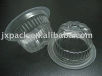 fancy spiral shape plastic jelly cup