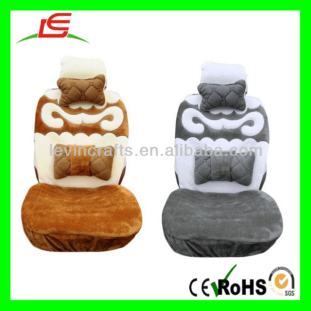 Winter Warm Plush Car Seat Cushion Covers 6pcs