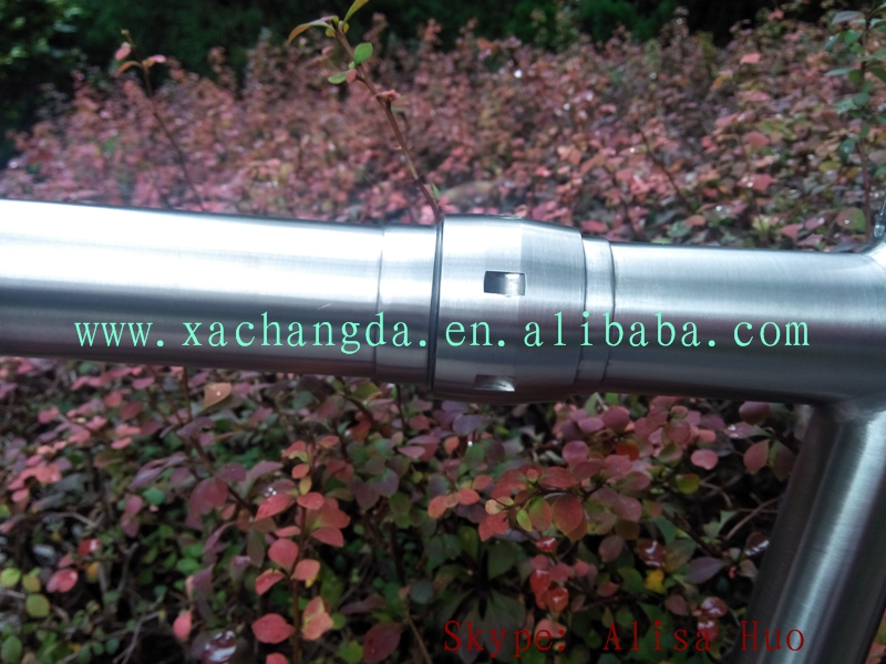 titanium cyclocross bike frame with S&S coupler titanium road bike frame with S&S coupler titanium racks