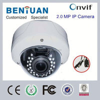 2.0mp POE 1080P ONVIF P2P CCTV H.264 varifocal lens IR surveillance security dsp ip video camera