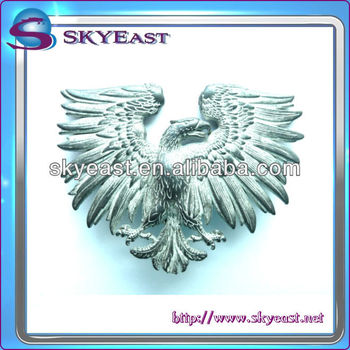 3D Raised Metal Eagle Badge With Antique Plated