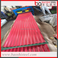 Baoshi Steel long span color coated corrugated roof tile from China manufacturer sheet