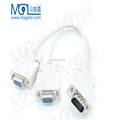 VGA Male 1 to 2 VGA Female Splitter Adapter extension Cable 30cm