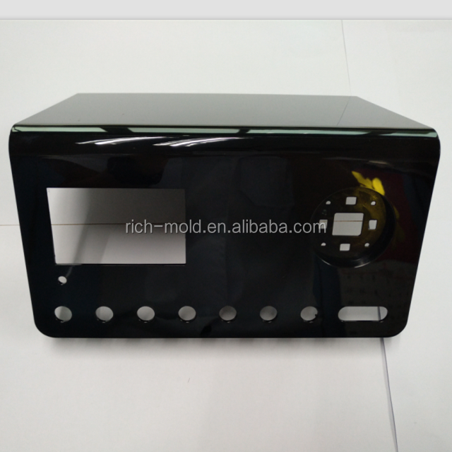 High quality plastic molding product home appliance radio device housing parts and injection mold maker