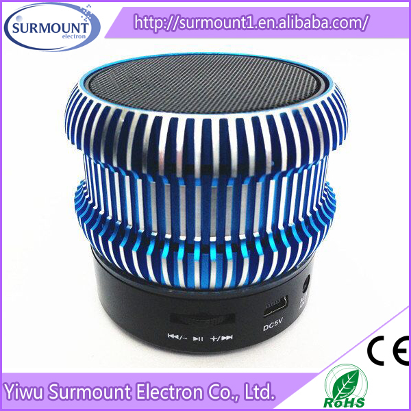 Factory Hot Sale Led Bluetooth Mini Speaker portable mini LED USB speaker