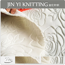 high quality flower embossed knitting scuba fabric for women dress/cloth