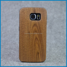 Hot selling Wooden+TPU smart phone case for Samsung Galaxy S6 Edge,mobile phone shell,back cover wood pc case