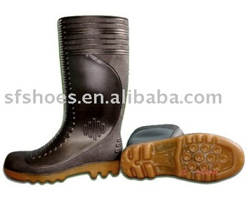 PVC/ nitrile rubber GUMBOOT with steel top and steel sole