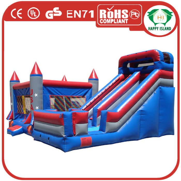 HI CE Popular Style Funny bouncy castle and slide/bouncy slide inflatable/inflatable bouncy castle slide for family