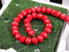 China Jewelry decorative porcelain red crystsal rondelle beads wholesale beads