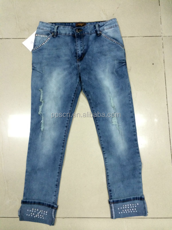 2014 new style fashion women jeans, ripped jeans wholesale china