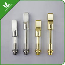 2016 new design dual coil CBD oil budder wax shatter vape pen cartridges 510 glass atomizers
