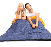 Hot Selling JXH-010 Double Person Sleeping Bag with Pillows, Double Sleeping Bag with 2 pillow, 2 Person sleeping bag