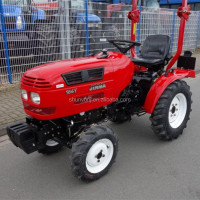 small garden tractor jm-164y with front-end loader