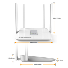 802.11AC High Power 1200Mbps Dual Band Wireless Modem Wifi Router 1km
