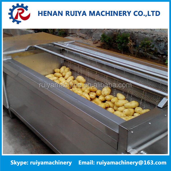 potato chips cleaning peeling and cutting machine,potato washing and peeling machine