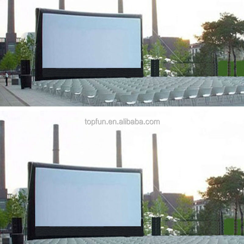Funny inflatable movie screen hot sale outdoor&indoor advertising inflatable movie screen