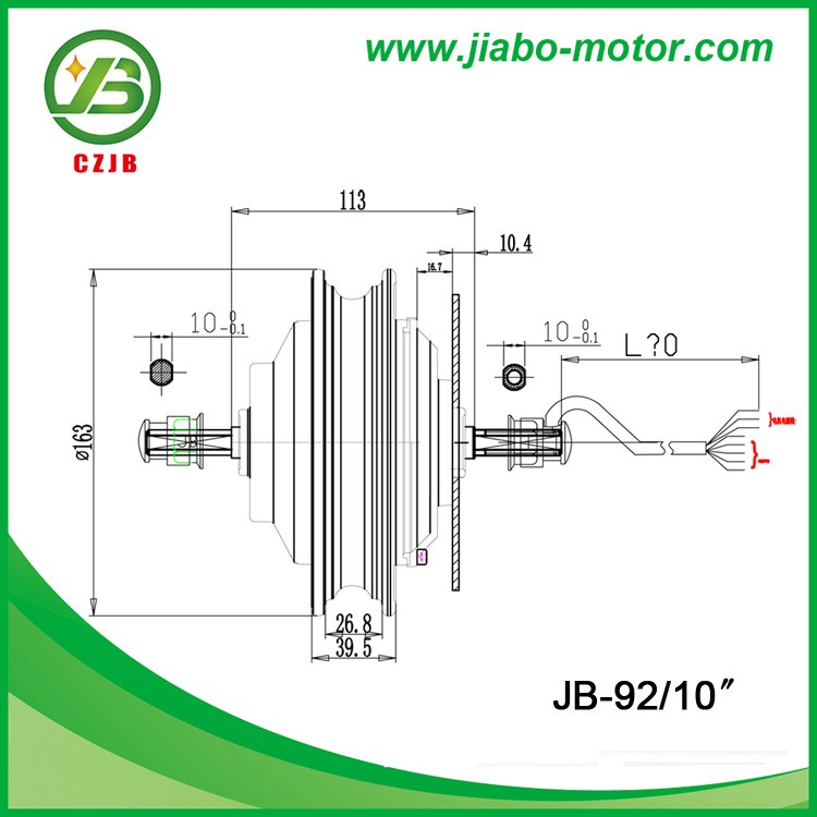 JB-92/10'' 10 inch 48v 350w electric scooter in wheel motor