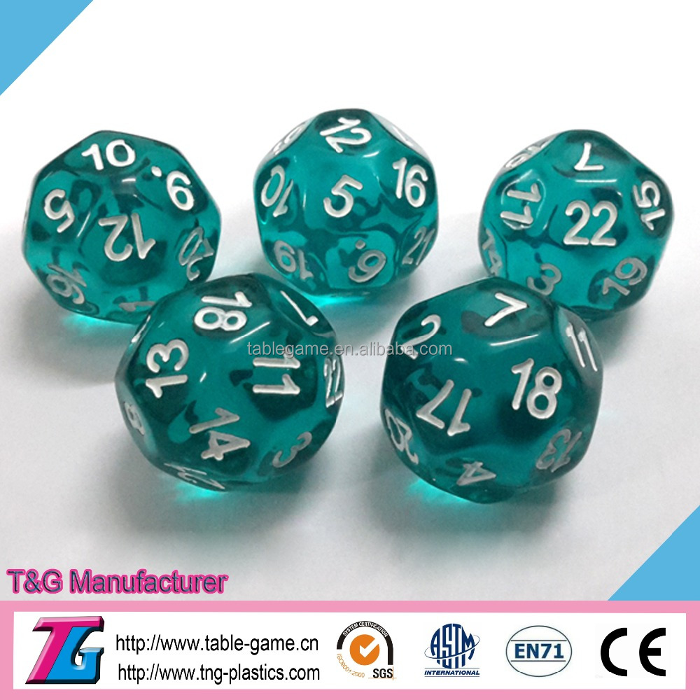 High quality translucent 20 sided dice