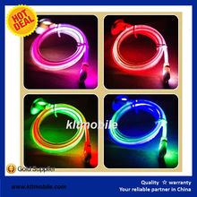 lighting flat cable Flat Noodle LED Light Extended Length USB Cable for Android Phones