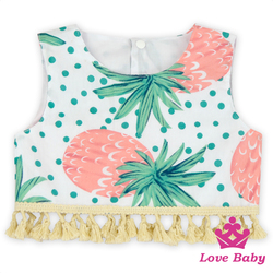 Hawaii Style Beach Suit Baby Girl Clothes Cute Tank Top Girls Clothes Boutique Newborn Baby Gift Set baby girl boutique clothing
