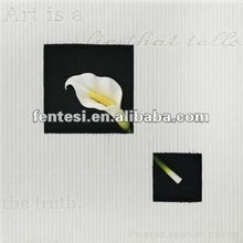 marble white hanging picture of Calla Lily