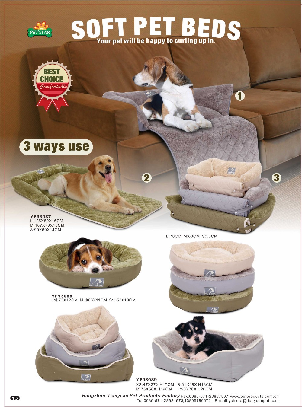 Professional Pet Roya Big Memory Foam Dog Bed Luxury