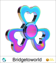 Rainbow Tri Heart Metal Fidget Spiner Toy Stress Relief Hand Spinner ADHD Adults Children Educational Toys