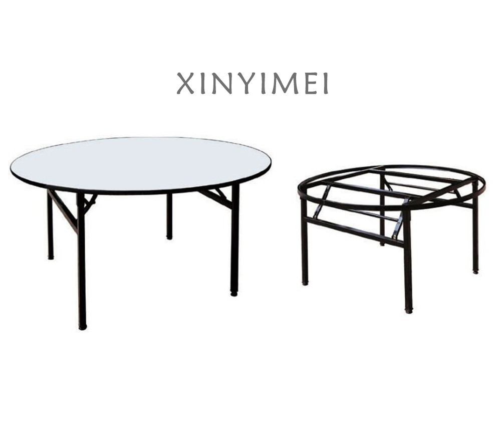 Foldable Banquet Used PVC Round Table