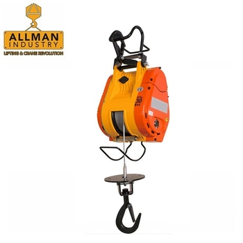 ALLMAN portable lifting equipment 110V 220V single phase 300kg Small Mini Electric Rope Hoist