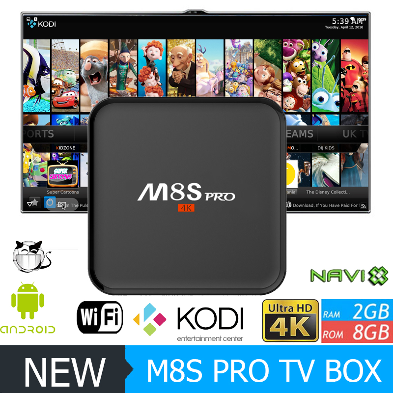 new products amlogic s905 quad core m8s pro android 5.1 smart kodi tv box fully loaded cheap