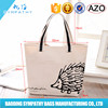 Canvas printing cheap logo shopping tote bags