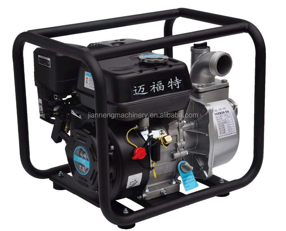 JIANSHE(CHINA) 5M Suction 15M Lift 3Inch Gasoline Engine Small Petrol Water Pump For Sale