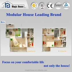 economical waterproof movable villa/great decoration double storey home/Chinal design hot sale villa house