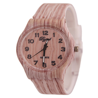 New style Wood watch Fashion Individuality Quartz silicone watches Vintage wristwatch