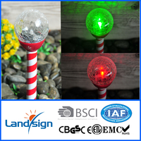 OEM factory highest selling quantity solar light product colour changing glass lights series cheap led crackled glass ball garde