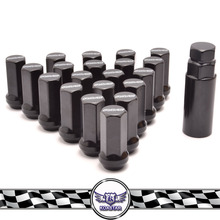 Racing Duralumin Locking Wheel Nuts, Black Anodized steel wheel nut
