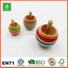 Wooden kids peg top toy for sale