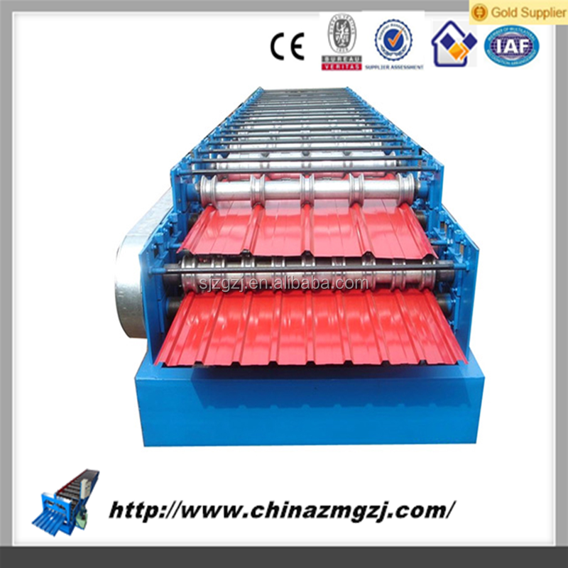 used gutter machines arch sheet roll forming machine 840 glazed tile roll forming machine