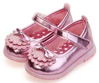 New fashional 4colors customize design soft TPR sole led light up leather baby kids dress school shoes