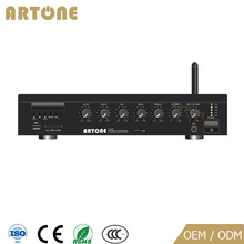 T-206 pa system mp3/usb/sd card/fm 2.1 bluetooth board audio amplifier for offices/church/conference/wine bar/restaurants