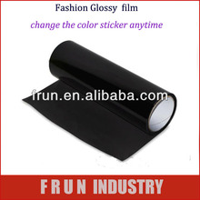 glossy black car headlight tailight vinyl film