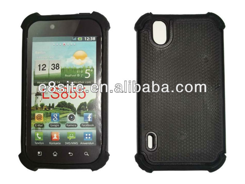 For LG P970 Optimus Black Cell Phone Triple Shockproof Case