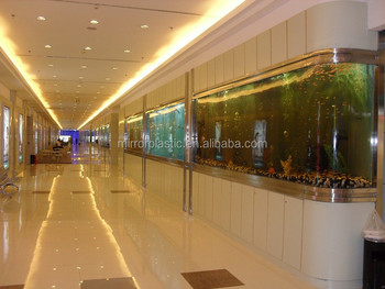 well-received bent glass artificial fish aquarium