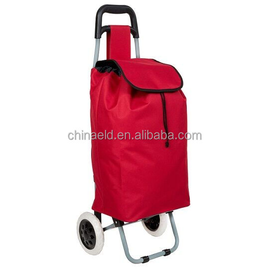 laminate Surface Handling Pull Folding Shopping Cart Trolley