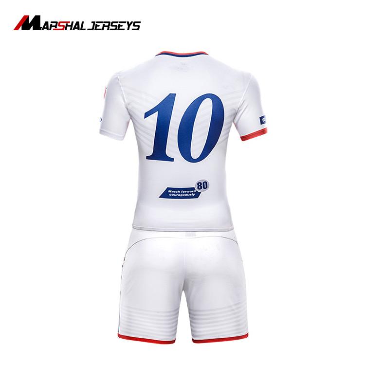 Bright Red White Football Jersey Football T Shirt Maillot De Foot