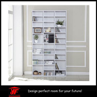 DVD Media Storage Shelves Racks Woodden Bookshelf Portable Bookshelf