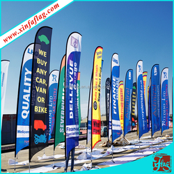 custom bike promotion teardrop flag banner,OEM advertising beach flags and banners