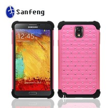 foshan phone case 3 in 1 diamond case for samsung note 3